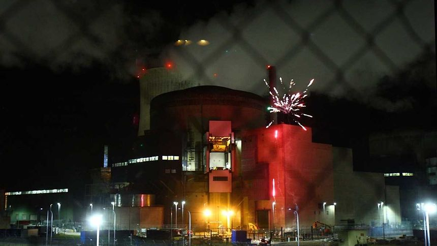 Greenpeace Activists Launched Fireworks at French Nuclear Power Plant
