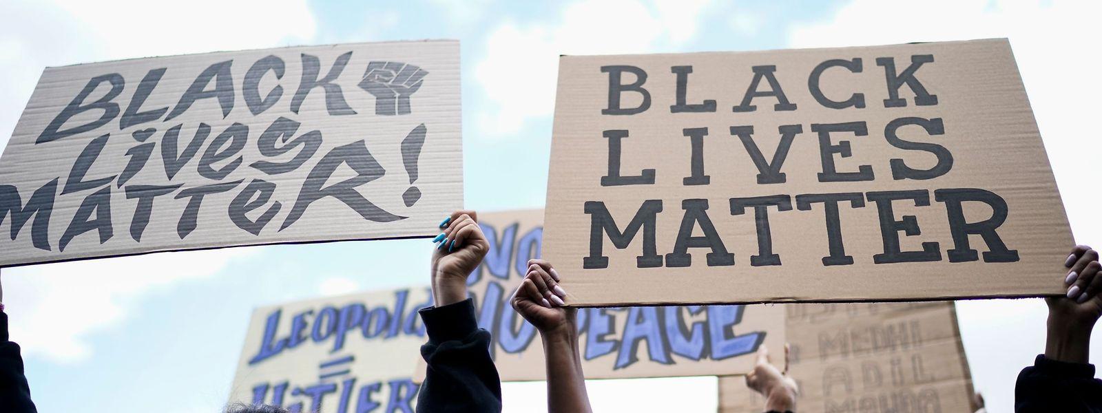 Des manifestants antiracisme à Bruxelles.