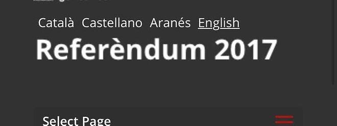 Die Informationswebseite zum geplanten Referendum in Katalonien gilt in Spanien als illegal.