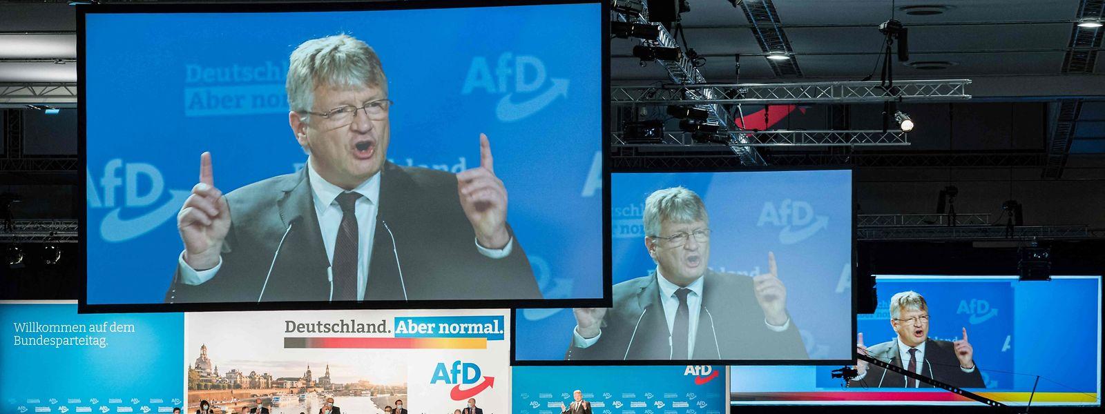 Parteichef Jörg Meuthen schwört seine Partei gleich auf mehrere Wahlkämpfe im Jahr 2021 ein.