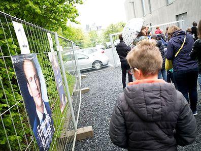 Französische Präsidentschaftswahlen lycee vauban luxembourg le 07.05.2017 Photo christophe Olinger