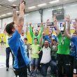 13 Handball Nationaldivision Spielzeit 2017-18 M-PO-T zwischen dem HC Berchem und dem HB Käerjengam 12.05.2018 Meister Kaerjeng nach dem Sieg