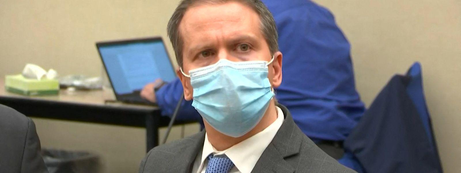 Derek Chauvin während der Urteilsverkündung Ende April.