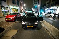 arrestation d'un homme a en face de la gare de esch apres apres avoir tue sa femme quelques heures plus tot rue du fosse a esch - Photo : Pierre Matge
