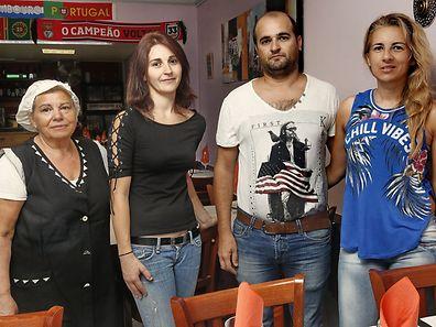 Da esquerda para a direita: Rosa Ribeiro, Joana Vieira, Carlos Santos e Susana Ribeiro