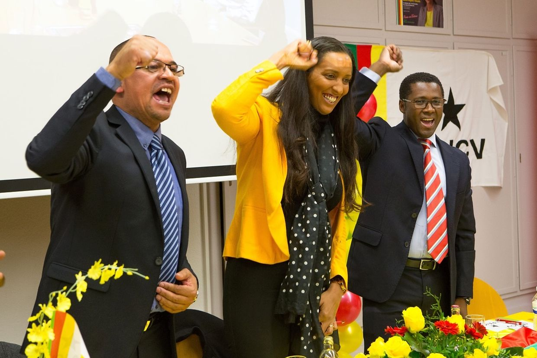 Janira Hopffer Almada esteve em pré-campanha no Luxemburgo como candidata do PAICV ao cargo de primeiro-ministro