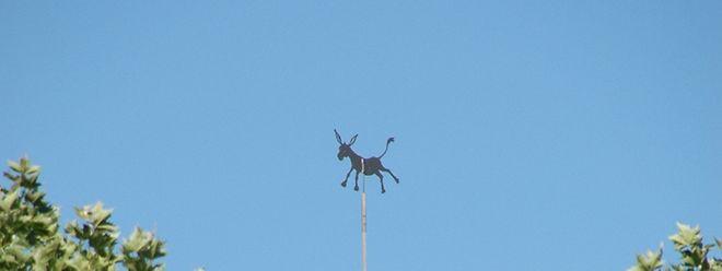 Seit Mai 2013 thront er dort oben. Nun darf er wohl auf immer und ewig den Diekircher Einwohnern zeigen, aus welcher Richtung der Wind weht.