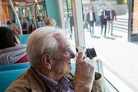 18.5. Kirchberg / Amiperas Hesper/Howald bescuht Tram und Funiculaire / Tram Foto:Guy Jallay