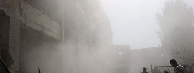 Die USA und andere westliche Staaten machen die syrische Luftwaffe seit Monaten für den Angriff verantwortlich.