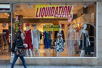 Wi , PK OGB-L Commerce , Unterstützung für die Geschäfte , rue Alzette Foto:Guy Jallay/Luxemburger Wort
