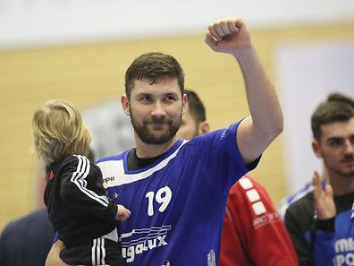 Josip Ilicic (HB Dudelange - 19) / Handball Challenge Cup, 1/8 Finale,  Saison 2016-2017 / 18.02.2017 / HB Dudelange - HC ZNTU-ZAB Zaporozhye / Centre Sportif René Hartmann / Foto: Yann Hellers