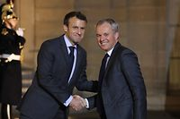Präsident Emmanuel Macron (l.) mit dem bisherigen Präsidenten der Nationalversammlung, François de Rugy, der jetzt Umweltminister wird.
