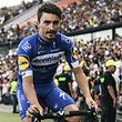 French Cyclist Julian Alaphilippe from Quick Step Cycling Team is pictured during the presentation of the Tour Colombia 2.1, at the Atanasio Girardot stadium in Medellin, Antioquia Department, on February 10, 2019. - The Tour Colombia 2.1 cycling race will take place between the 12th and 17th of February. (Photo by JOAQUIN SARMIENTO / AFP)