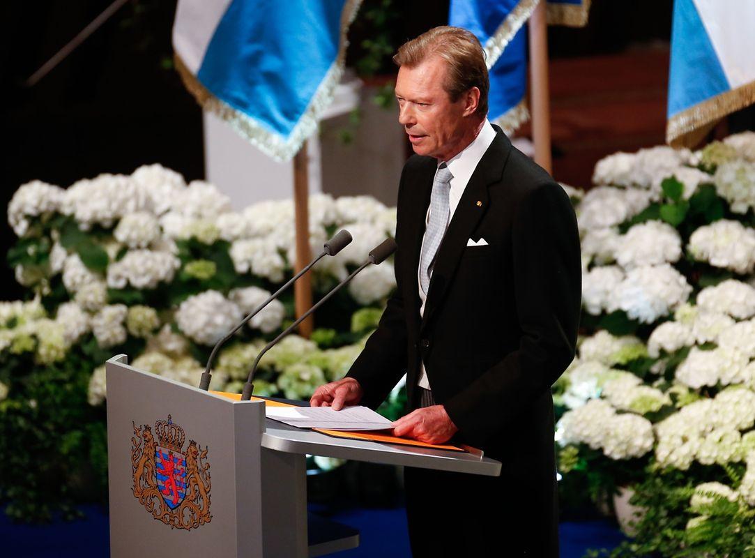 Le Grand-Duc Henri a parlé dans son discours de la dimension sociale importante - que ce soit dans les élections municipales ou les défis internationaux.