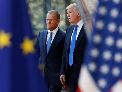 U.S. President Donald Trump with the President of the European Council Donald Tusk
