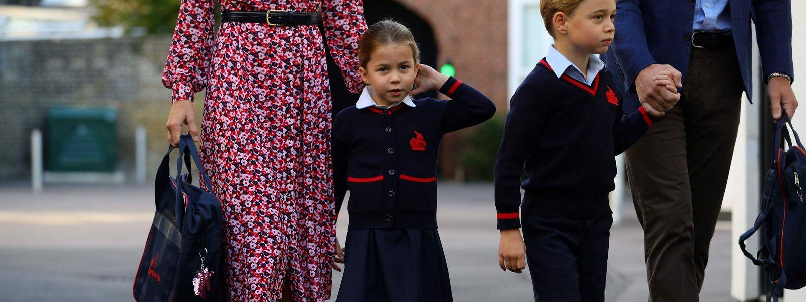 Prinzessin Charlotte mit ihrem Bruder Prinz George.