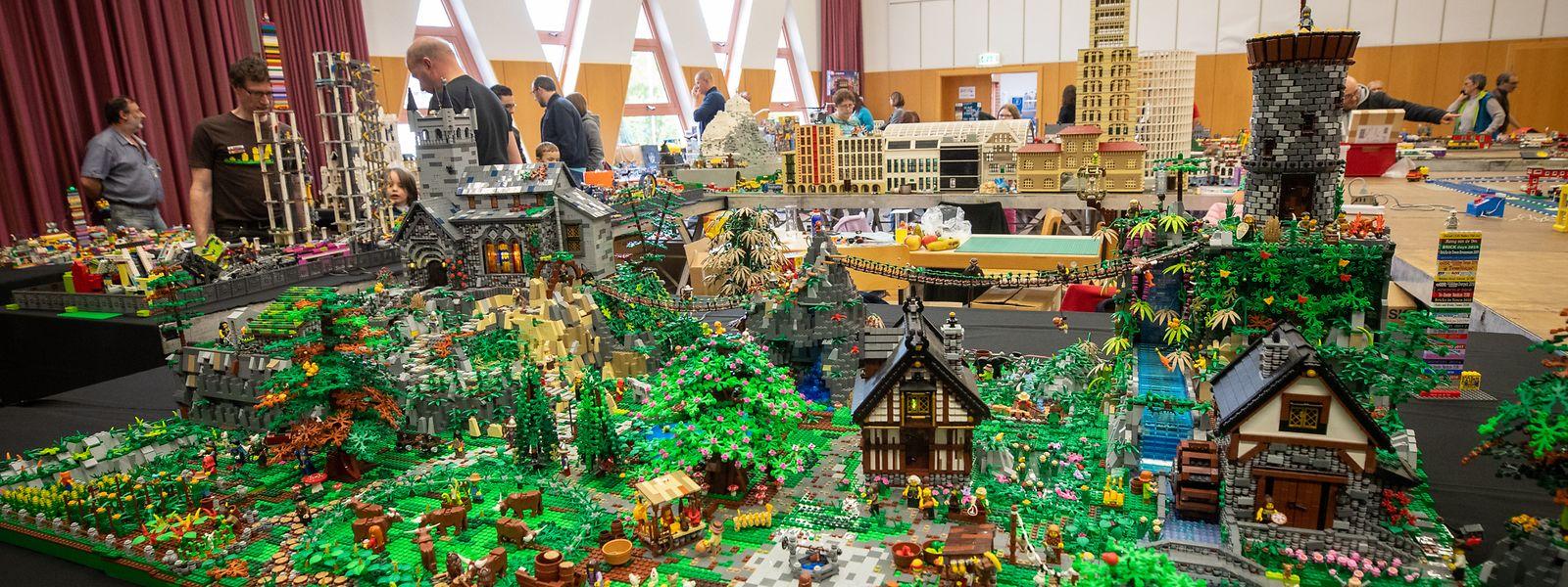 """Bei den """"Brick Days"""" zeigten die Legofans ihre gebauten Schätze."""