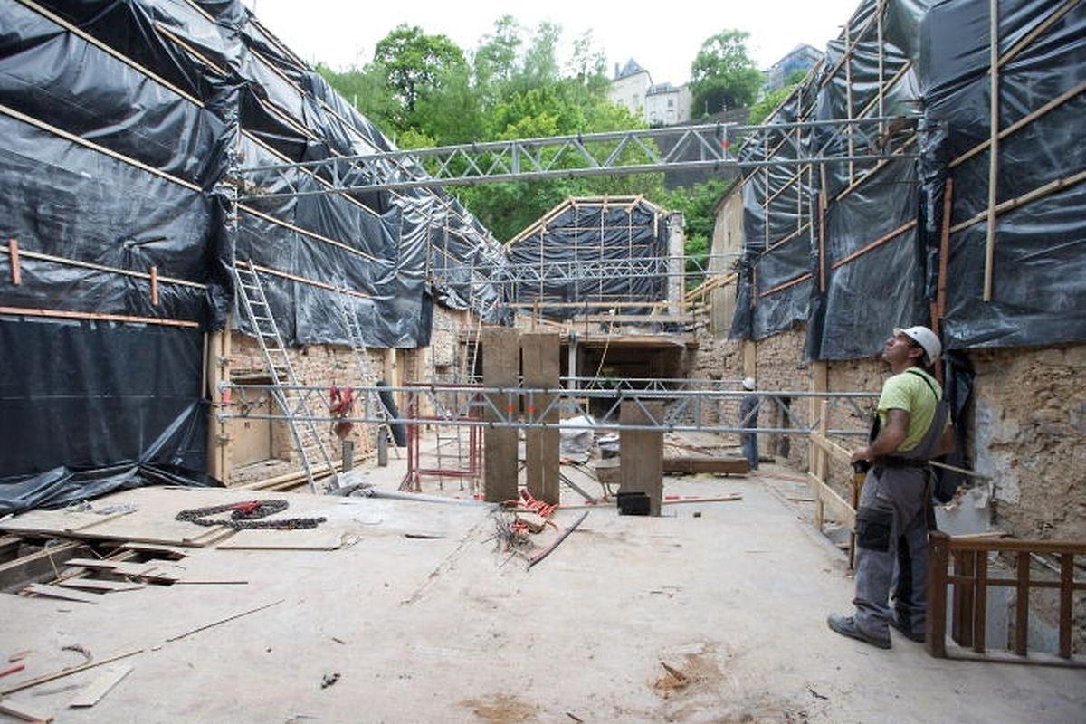 In den oberen Stockwerken der Mühle entstehen Studentenzimmer.
