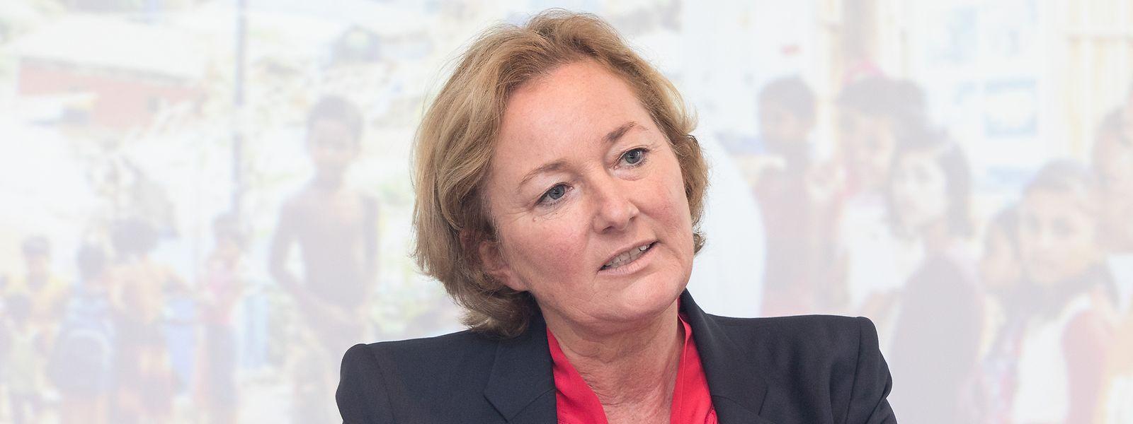 Paulette Lenert betont die Wichtigkeit humanitärer Hilfe.