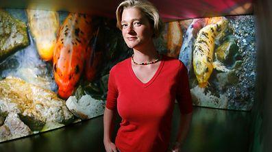 Delphine Boël, hier bei einer Ausstellung 2007, behauptet, die Tochter Alberts II. zu sein.