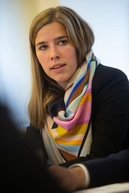 Elisabeth Margue, Interim-CSV-Präsidentin, mahnte zu Zusammenhalt und Geschlossenheit.