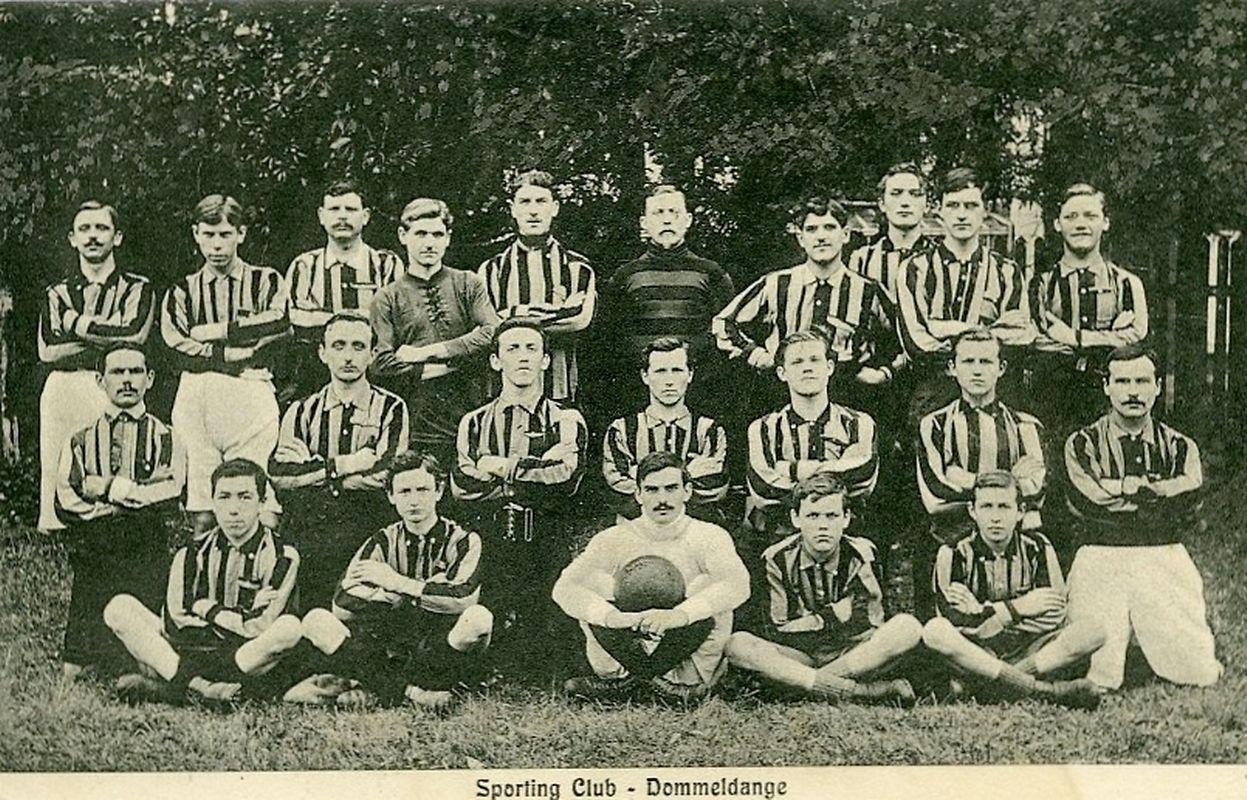 Eine Rarität: Eine Aufnahme des SC Dommeldingen von 1909. Der Verein existierte nur ein Jahr.