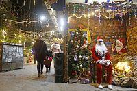 Ein Weihnachtsmarkt in der Hauptstadt Damaskus: Die Idylle trügt. Christen müssen in Syrien und im benachbarten Irak um ihr Leben fürchten.