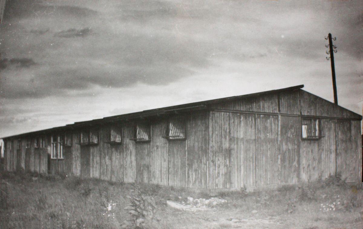 Um dos dormitórios de Hinzert, o campo de concentraçâo onde Toussaint foi morto