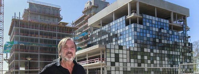 Berwick tritt Ende 2016 als CEO ab. Das Bild zeigt Berwick im Sommer 2016 vor dem RTL-Neubau auf Kirchberg.