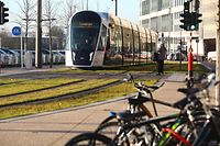 Lokales,Tram, Limpertsberg-Kirchberg. Foto: Gerry Huberty/Luxemburger Wort