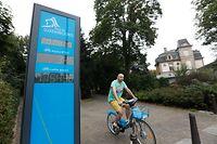 Lokales, Online.de, Park, Stadt beim Eingang steht ein Fahrradzähler,  Foto: Anouk Antony/Luxemburger Wort