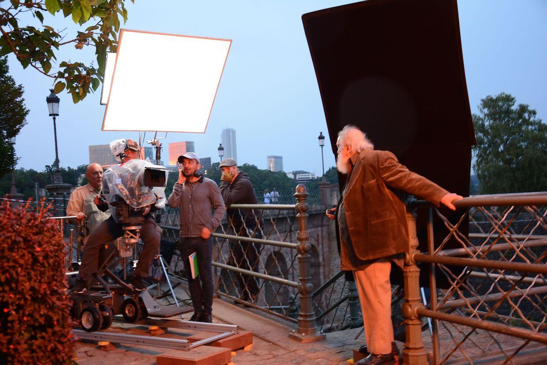 """Imagem captada durante as filmagens da curta-metragem """"Portraitiste"""""""