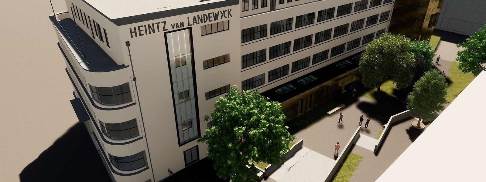 Inscrit au patrimoine de la capitale, l'ancien siège social de Heintz van Landewyck doit être transformé en espace de bureaux, sur une surface de 5.500 m2.