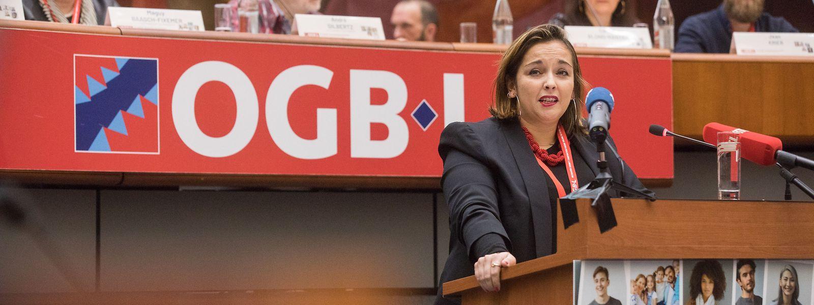 Politik, OGBL-Kongress, Nora Back.
