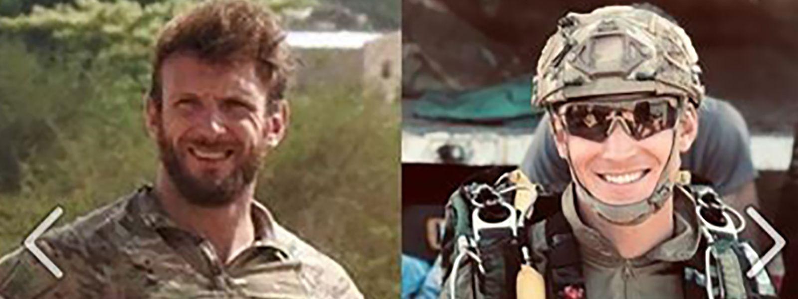 """Dieses Foto wurde von der französischen """"Marine nationale"""" publiziert. Es zeigt die Soldaten Cedric de Pierrepont (l.) und Alain Bertoncello die bei der Befreiung von Geiseln in Burkina Faso getötet wurden."""