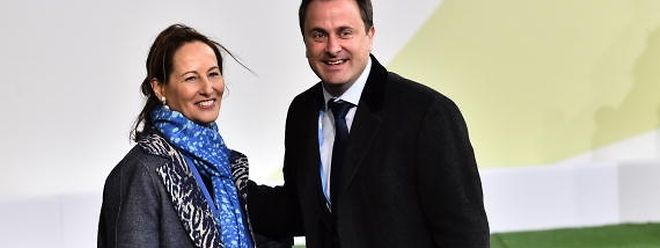 Xavier Bettel et Ségolène Royal lors de l'ouverture de la COP21 au Bourget à la fin novembre 2015.