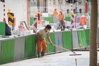 Lokales, Baustellen offen nach Krise, Corona, Covis-19, Foto: Lex Kleren/Luxemburger Wort
