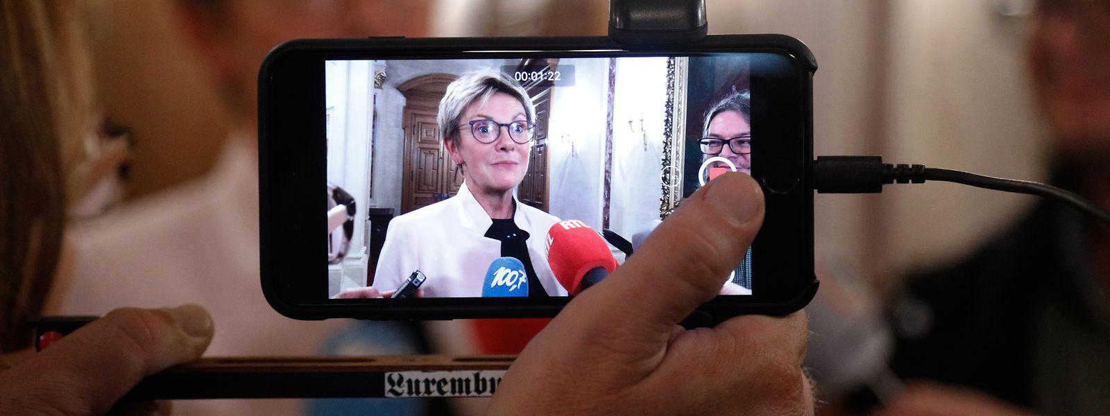 """""""Eine Rede mit null Inhalt"""": CSV-Fraktionschefin Martine Hansen geht mit Xavier Bettel scharf ins Gericht."""