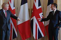 Der britische Premier Boris Johnson (l) und Frankreichs Präsident Emmanuel Macron bei einem Treffen in der 10 Downing Street im Juni.