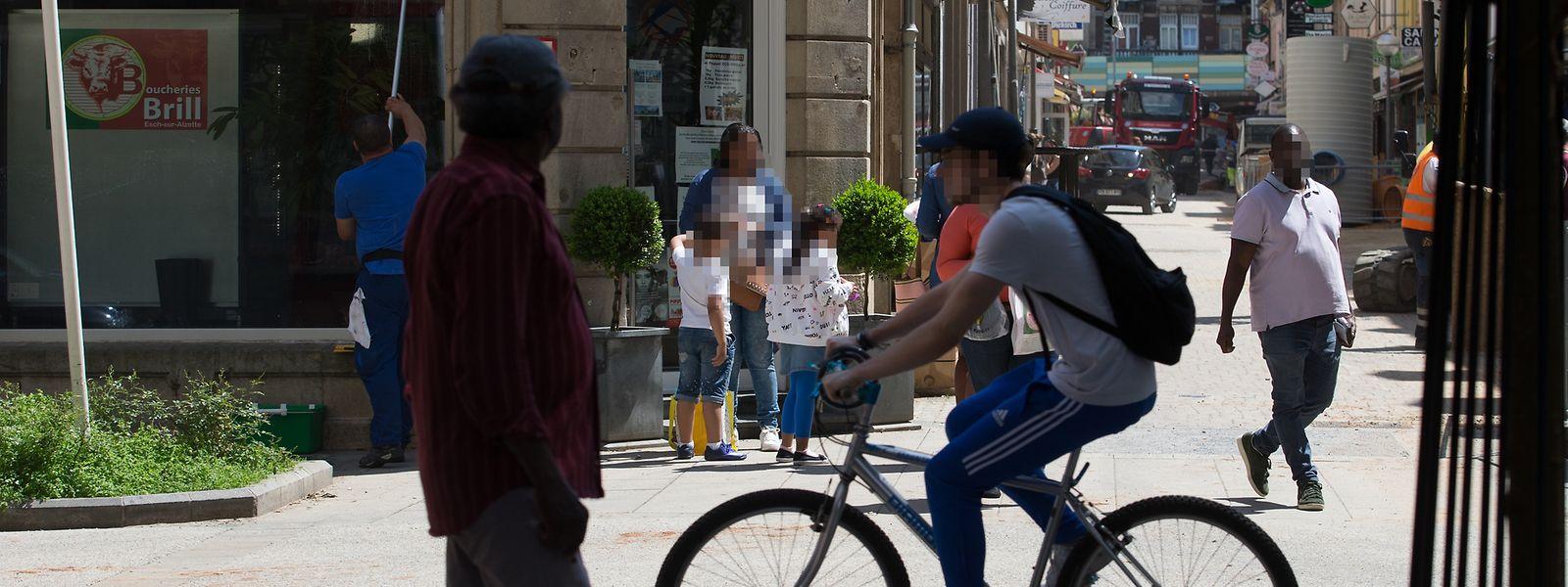 A perseguição entre os grupos parou na rue du Brill, em Esch.
