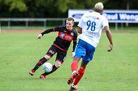 Ben Payal (8 Strassen)  Adriel Santos (98 Ettelbruck) Football - BGL Ligue - 7 eme journée - Ettelbruck-Strassen - Stade Am Deich - foto : Vincent Lescaut