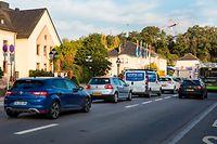 Stau in der Route de Thionville in Hesperingen/ 14.10.2019/ Foto : Caroline Martin