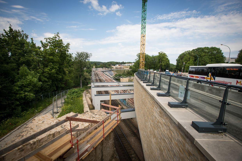 Brücken in Luxemburg Stadt - Viadukt Polfermillen -  Foto: Pierre Matgé/Luxemburger Wort