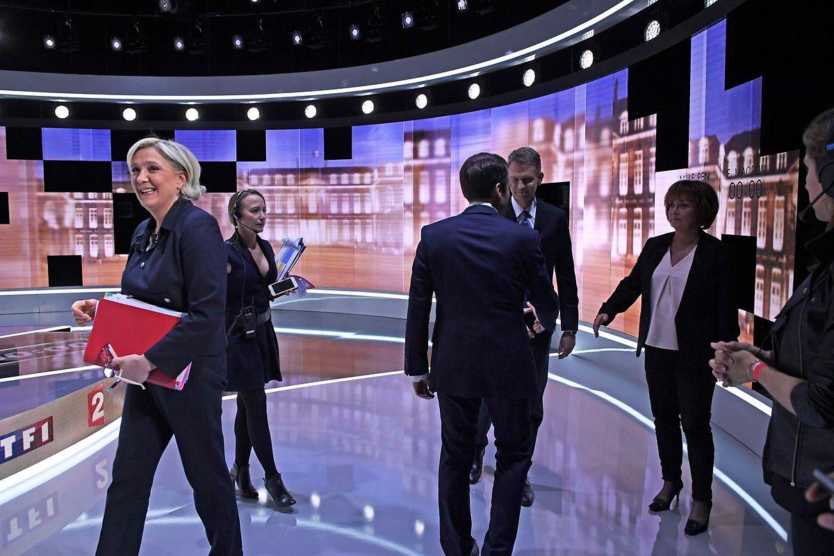 Marine Le Pen war meist diejenige, die angriff, doch Emmanuel Macron parierte die Attacken mit Detailkenntnis.