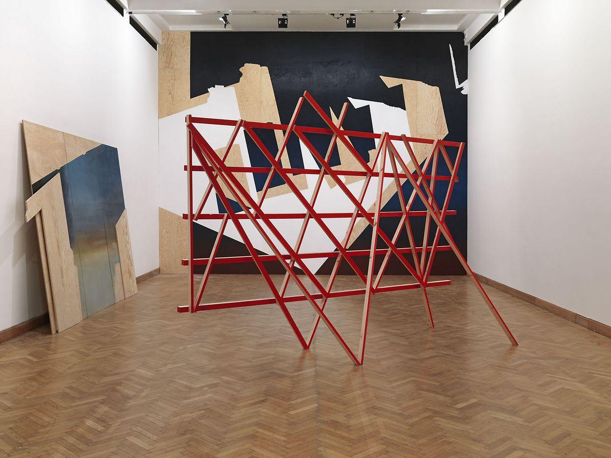 "Einblick in Tina Gillens Soloschau im Brüsseler Bozar, ""Echo"", 2015."