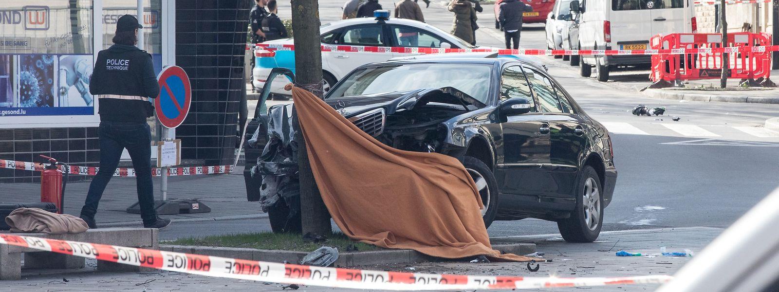 Das Fluchtauto kam am 11. April 2018 an der Place Léon XIII zum Stillstand.