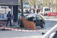 11.4. Bonneweg / Polizeieinsatz / Fahrerflucht mit Schiesserei/ Foto:Guy Jallay