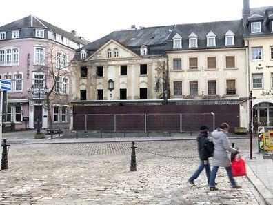 """Kein schöner Anblick: Das Hotel """"A La Petite Marquise"""" verfällt zusehends im Zentrum von Echternach."""