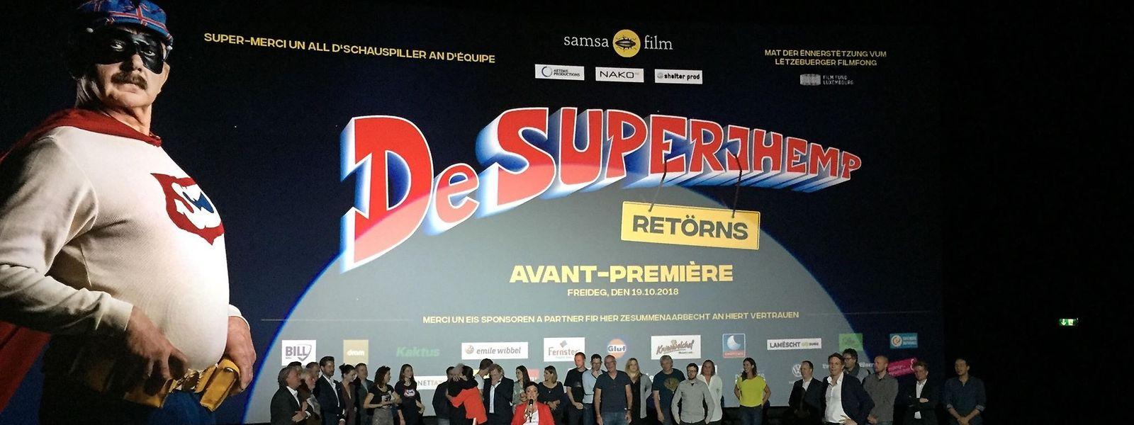 «Superjhemp Retörns» a été présenté en avant-première ce vendredi 19 octobre, au cinéma Utopolis du Kirchberg, en présence de l'équipe du film.