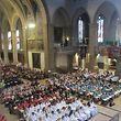 Die Pueri Cantores beim Festgottesdienst am 3. Juli in der Kathedrale von Luxemburg.